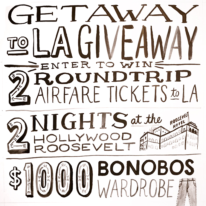 Bonobos Sweeps Logo Bonobos Wants to Fly You to LA & Dress You up