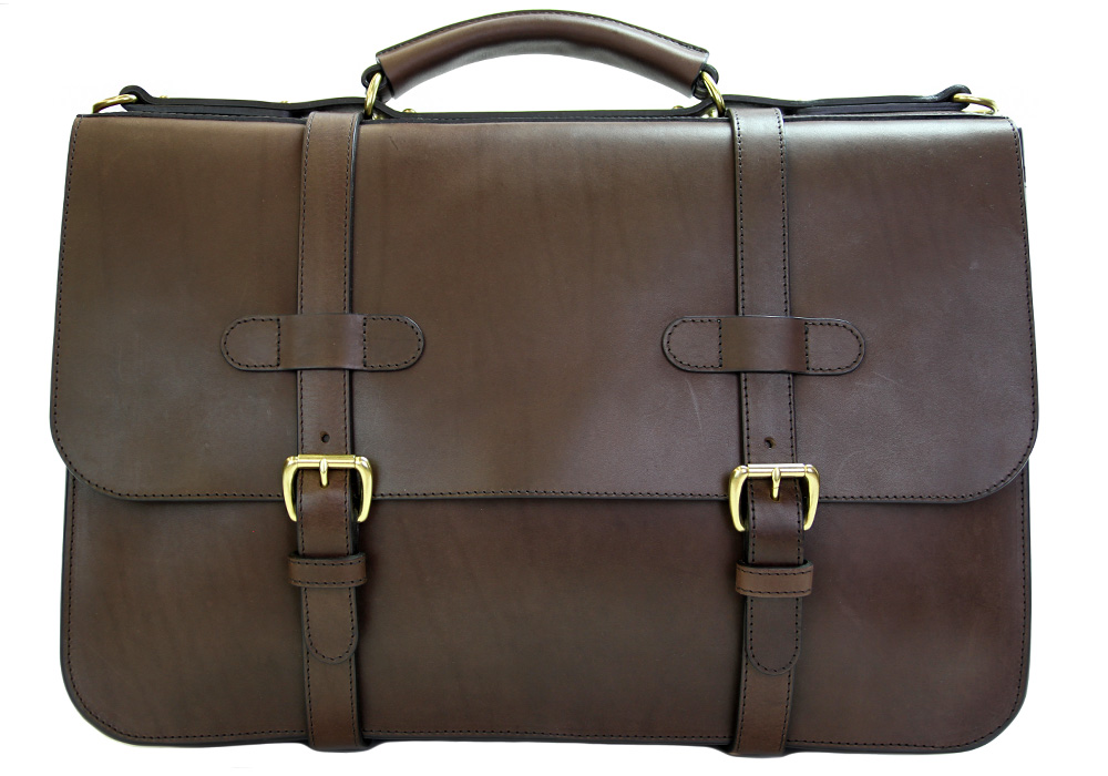Chocolate Mens English Leather Briefcase 35 Years Perfect: The Frank Clegg English Briefcase