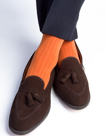 Dapper Classics Burnt Orange Merinojpg Socks We Love: Dapper Classics