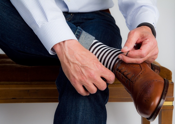 Dapper Classics Jean Stripe Socks We Love: Dapper Classics