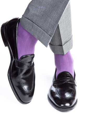 Dapper Classics Purple Socks We Love: Dapper Classics