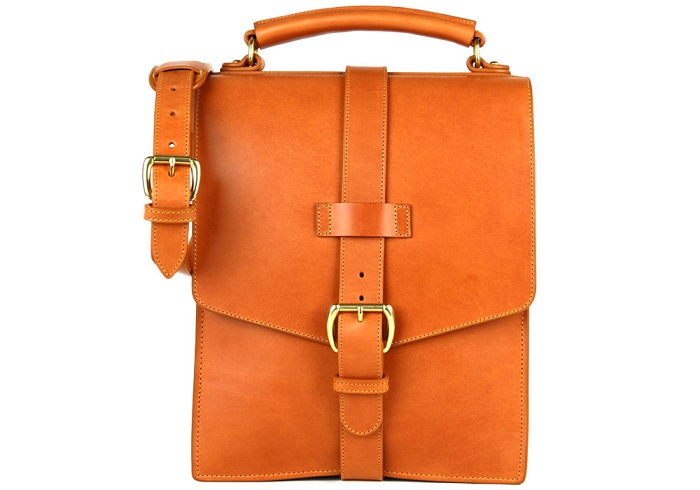Frank Clegg Leather Buckle Satchel 2014 OTC Holiday Gift List
