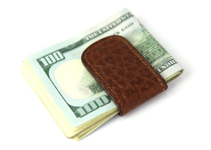 Frank Clegg Shrunken Leather Money Clip Accessories: The Money Clip