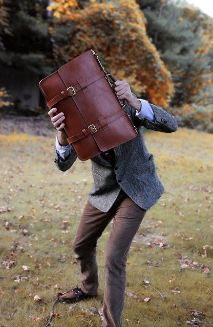 FrankCleggEnglishBriefcase Personal Style: Creating the College Professor Look