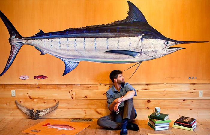 James Prosek in his Studio James Prosek: The Audubon of Fish