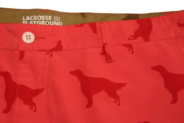 Lacrosse Playground Convertible Short Detail (Red)