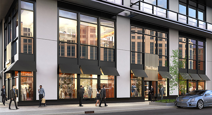 PS dc store rendering Paul Stuart Opening in DC, Spring 2015
