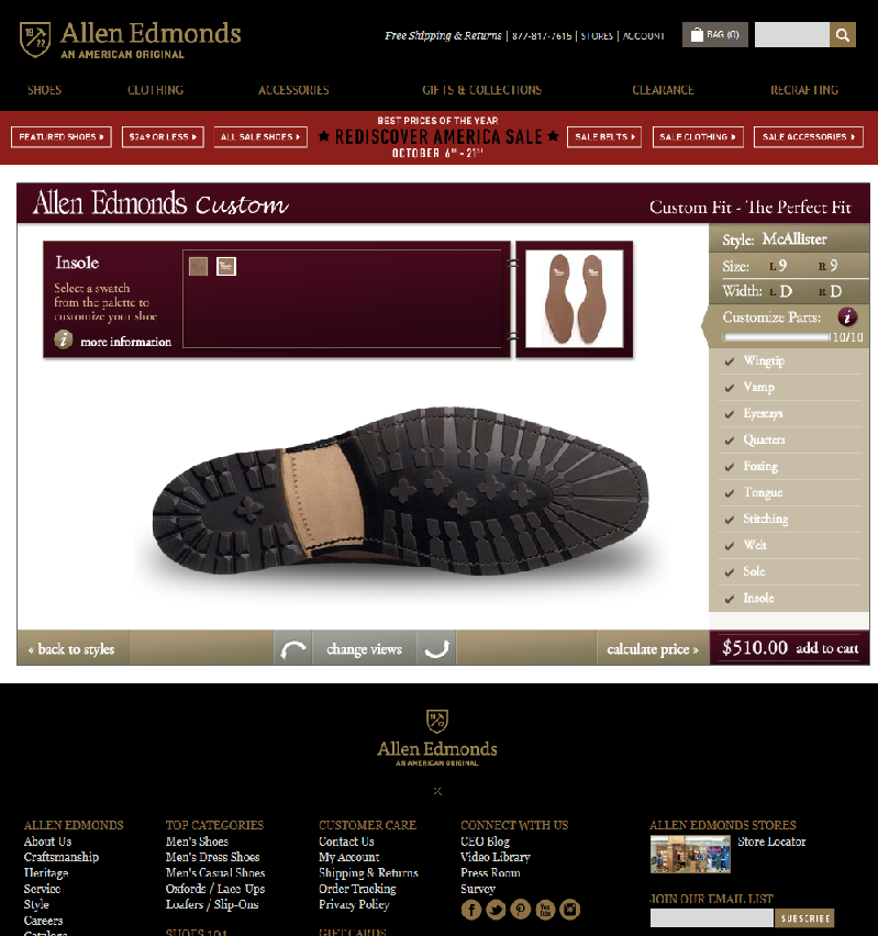 Screenshot 2014 10 06 12.37.22 Going Custom With Allen Edmonds