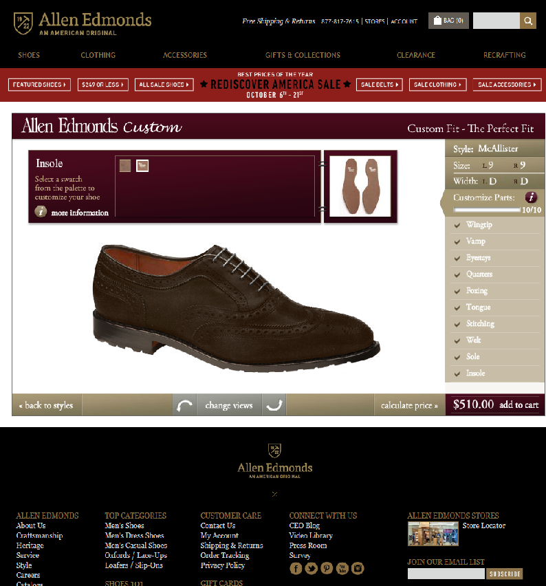 Screenshot 2014 10 06 12.37.35 Going Custom With Allen Edmonds