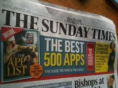SundayTimesApps BeSpeak Makes List of Top 500 Apps