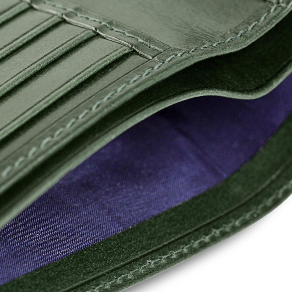 hb British Racing Green Wallet Detail 1024x1024 H&B London: Exceptional Handmade Wallets